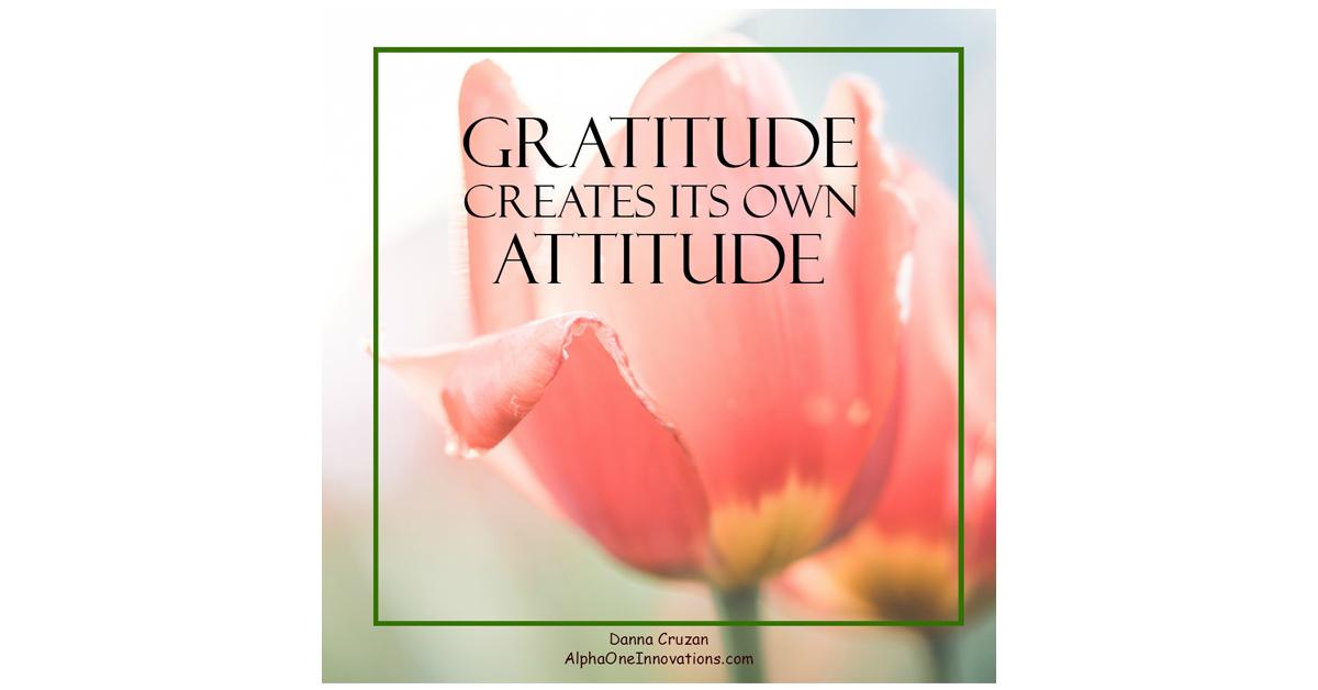 Gratitude Creates Its Own Attitude