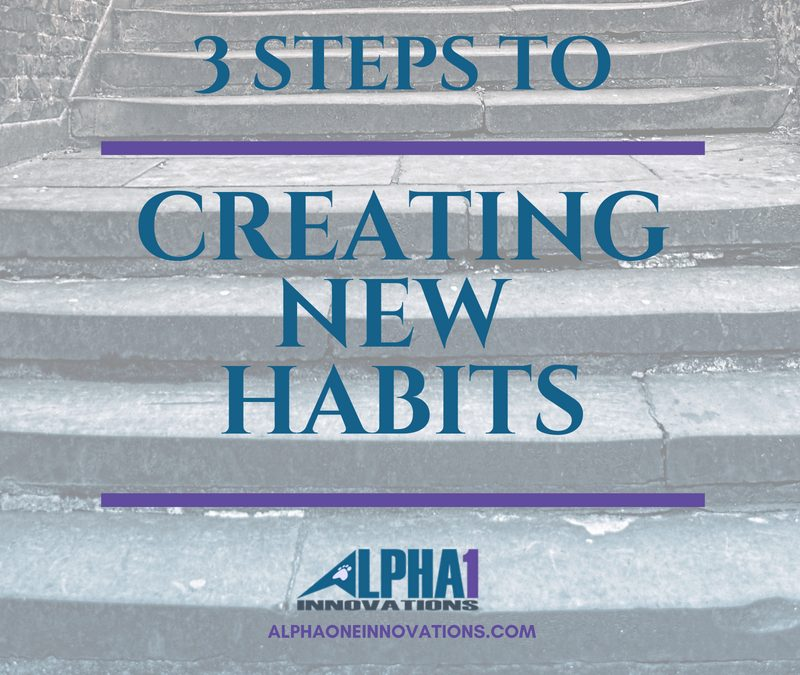 3 Steps to Creating New Habits