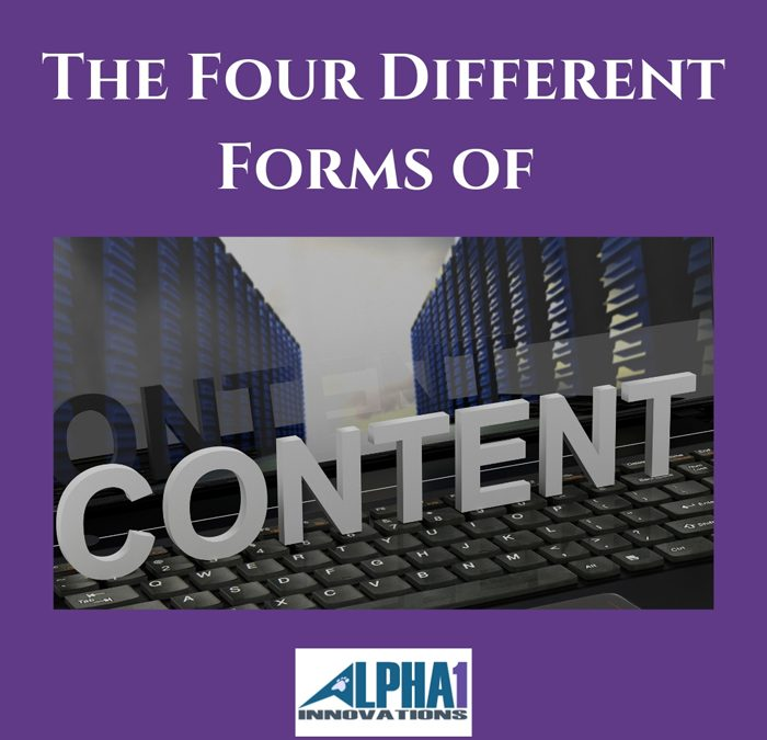 The Four Different Forms of Content