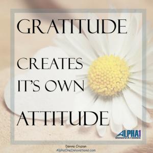 Gratitude Creates It's Own Attitude